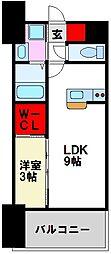 LIFEFIELD二日市駅前 7階1LDKの間取り