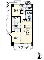 マイハイム末広[9階]の間取り