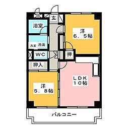 メゾンラ・メール[3階]の間取り