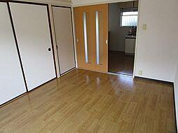 プルミエの前面棟が無いので明るいお部屋です。ゆったりした洋室です