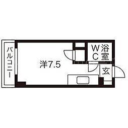 エスポアールハイツ[4階]の間取り