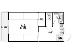 コーポ斎藤B[205号室]の間取り