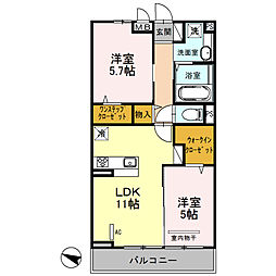 仮)安行藤八D-room2[3階]の間取り