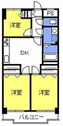 カーサソラール大門[402号室号室]の間取り