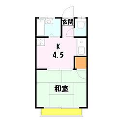 メープルハウス[B-8号室]の間取り