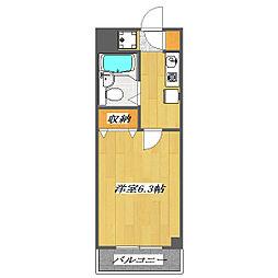 東京都江戸川区西葛西7の賃貸マンションの間取り