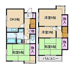 [一戸建] 東京都北区栄町 の賃貸【/】の間取り