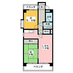 ピュアネス鶴里[3階]の間取り