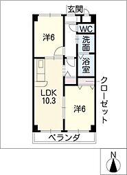 ソシア昭和[1階]の間取り