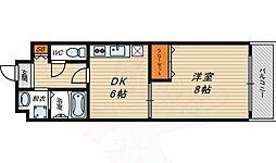 ナカノハイツパート6 1階1DKの間取り