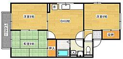 セジュール21[2階]の間取り