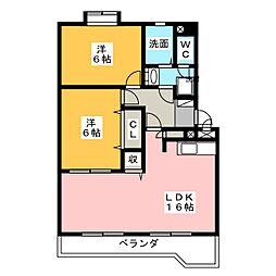 エステートカトー[2階]の間取り