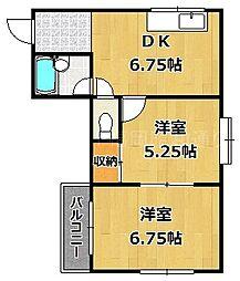カーサヴェルデ桜坂[2階]の間取り