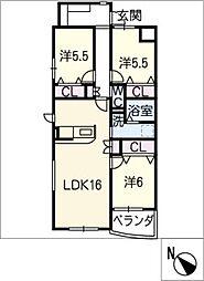 仮)ウッドベルV[4階]の間取り