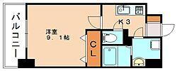 JR博多南線 博多南駅 徒歩13分の賃貸マンション 5階1Kの間取り