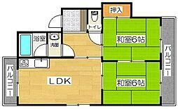 清友マンション[2階]の間取り
