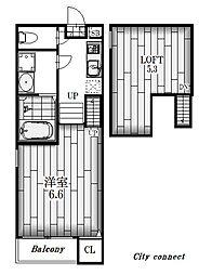 Villa La Fonte[2階]の間取り