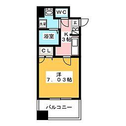 サヴォイザ・パームストリート[13階]の間取り