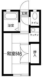 埼玉県さいたま市岩槻区大字金重の賃貸アパートの間取り