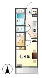 レオパレスフレンディー太閤[2階]の間取り