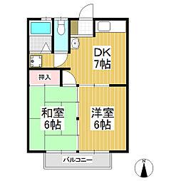 新中島アパート[2階]の間取り