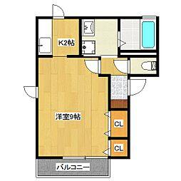 マンション澤[2階]の間取り
