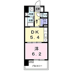 JR長崎本線 佐賀駅 徒歩9分の賃貸マンション 1階1DKの間取り