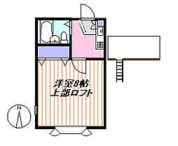 ロイヤルス茅ヶ崎[202号室]の間取り