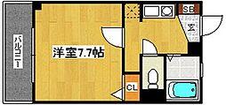 福岡県福岡市中央区唐人町3丁目の賃貸アパートの間取り