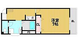 赤井マンション[404号室]の間取り