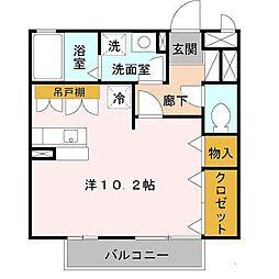 大阪府和泉市肥子町2の賃貸アパートの間取り