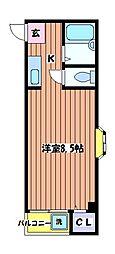 立川弐拾壱番館[4階]の間取り