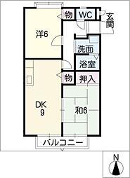 グランパス広幡[1階]の間取り