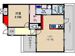 フォルビート[2階]の間取り
