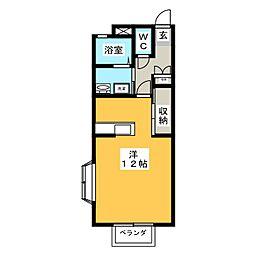 VISAGE桜[106号室]の間取り