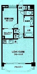 アジュール溝口[2階]の間取り
