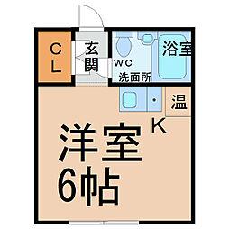 愛知県名古屋市中区伊勢山2の賃貸マンションの間取り