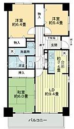香川県高松市仏生山町の賃貸マンションの間取り