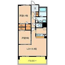 ラ・メゾンMSIII[2階]の間取り