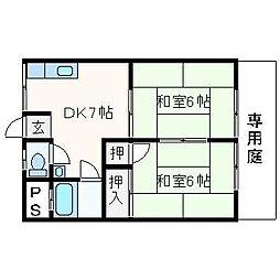 長谷川コーポ A棟[103号室]の間取り