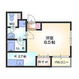 カトレヤ21[4階]の間取り