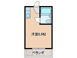 三重県津市東丸之内の賃貸マンションの間取り