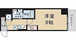 プリエールTAT江戸堀 3階1Kの間取り