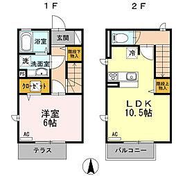 [テラスハウス] 東京都三鷹市北野3丁目 の賃貸【/】の間取り