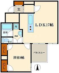 ラパンジール恵美須[8階]の間取り
