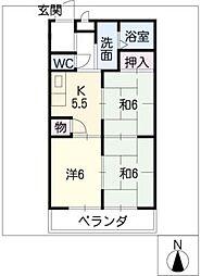 第2坂井マンション[2階]の間取り