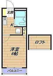 レオパレスマキ[2階]の間取り