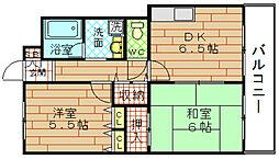 ブランカ福西[2階]の間取り