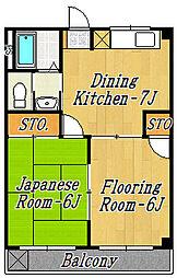 清水マンション[3階]の間取り