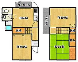 [一戸建] 兵庫県神戸市北区鈴蘭台南町6丁目 の賃貸【/】の間取り